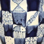 African Delft Burnt Earth Pattern