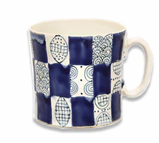 Builders Mug Delft Pattern
