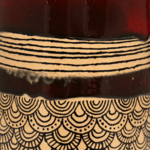 Red Henna Burnt Earth Pattern