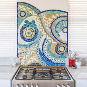 Kitchen Mosaic Burnt Earth