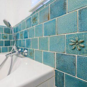 Bathroom Tiles Burnt Earth